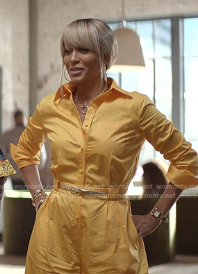 Giselle's yellow button down jumpsuit on Empire