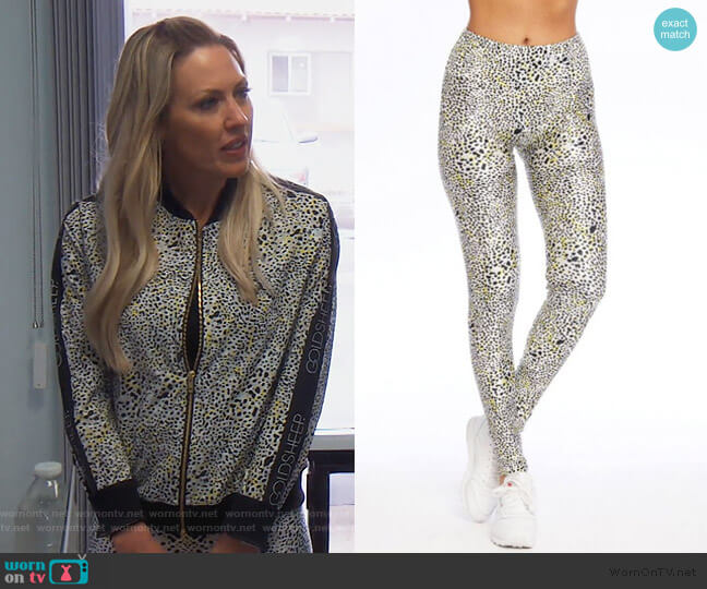 Leopard Spot Leggings by Gold Sheep Clothing worn by Braunwyn Windham-Burke  on The Real Housewives of Orange County