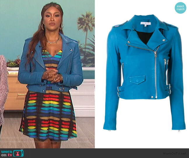 Ashville Biker Jacket by IRO worn by Eve  on The Talk
