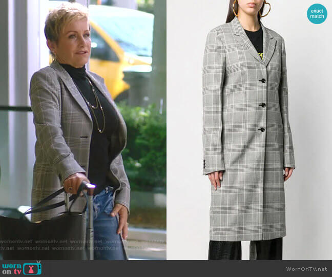Jameson Coat by RtA worn by Gabrielle Carteris  on BH90210