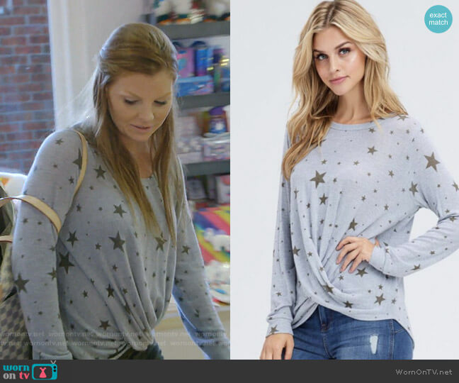 Star Print Top by Jamie and Maxi worn by Brandi Redmond  on The Real Housewives of Dallas