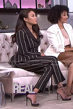 Jeannie's black striped suit on The Real