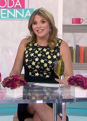 Jenna's black and yellow floral dress on Today