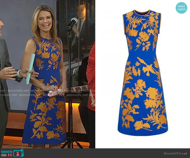 Linford Floral Dress by Jonathan Saunders worn by Savannah Guthrie  on Today