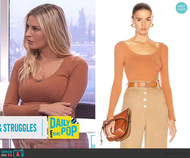 Scoop Neck Sweater by Joostricot worn by Morgan Stewart  on E! News