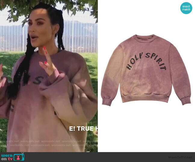 Spirit Sunday Service Crewneck Oxen by Kanye West worn by Kim Kardashian  on Keeping Up with the Kardashians
