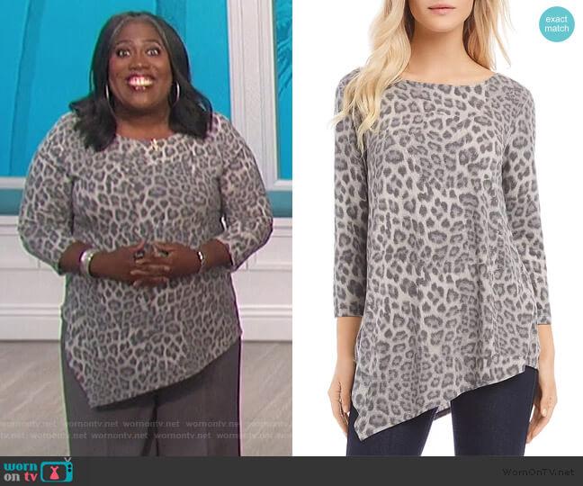 Leopard Crisscross-Back Top by Karen Kane worn by Sheryl Underwood  on The Talk