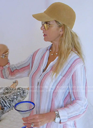 Kary's striped shirt on The Real Housewives of Dallas