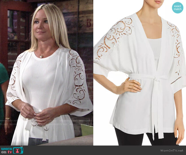 Kobi Halperin Britney Kimono-Style Jacket worn by Sharon Collins (Sharon Case) on The Young & the Restless