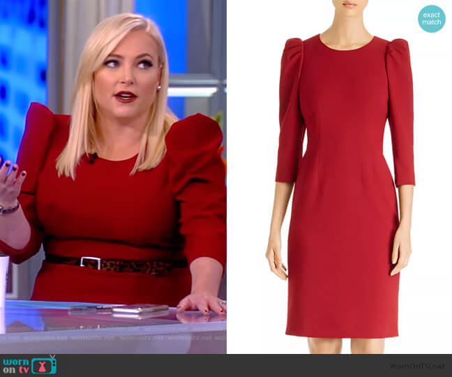 Jody Puff-Sleeve Sheath Dress by Kobi Halperin worn by Meghan McCain  on The View