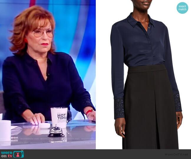 Rue Button-Front Silk Blouse by Kobi Halperin worn by Joy Behar  on The View
