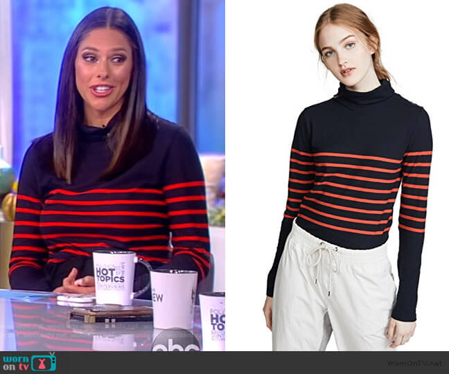 The Tissue Turtleneck by Kule worn by Abby Huntsman  on The View