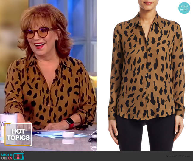 Nina Animal-Print Silk Blouse by L'Agence worn by Joy Behar  on The View