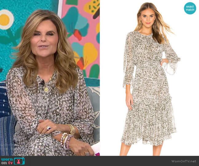 Laia Dress by Misa Los Angeles worn by Maria Shriver  on Today