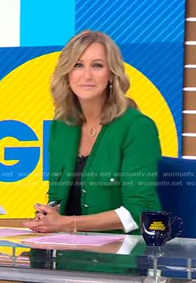 Lara's green tweed jacket on Good Morning America