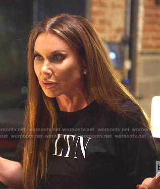 LeeAnne's black VLTN tee on The Real Housewives of Dallas