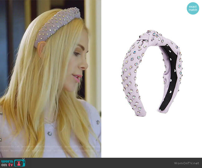 Crystal Headband by Lele Sadoughi worn by Kameron Westcott  on The Real Housewives of Dallas