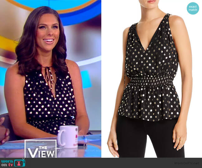 Hannah Metallic Polka Dot Top by Lini worn by Abby Huntsman  on The View