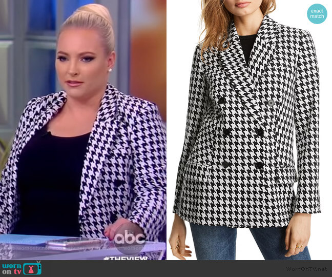 Olivia Houndstooth Blazer by Lini worn by Meghan McCain  on The View