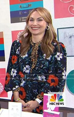 Lori Bergamotto's floral and leopard print dress on Today