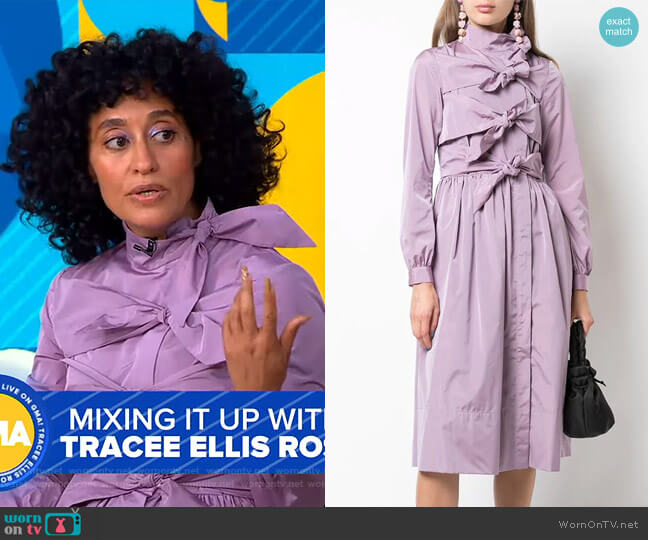 Tie Detail Dress by Molly Goddard worn by Tracee Ellis Ross on GMa