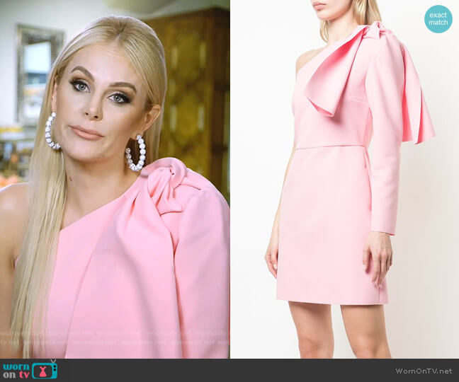 One-Shoulder Mini Dress by MSGM worn by Kameron Westcott  on The Real Housewives of Dallas