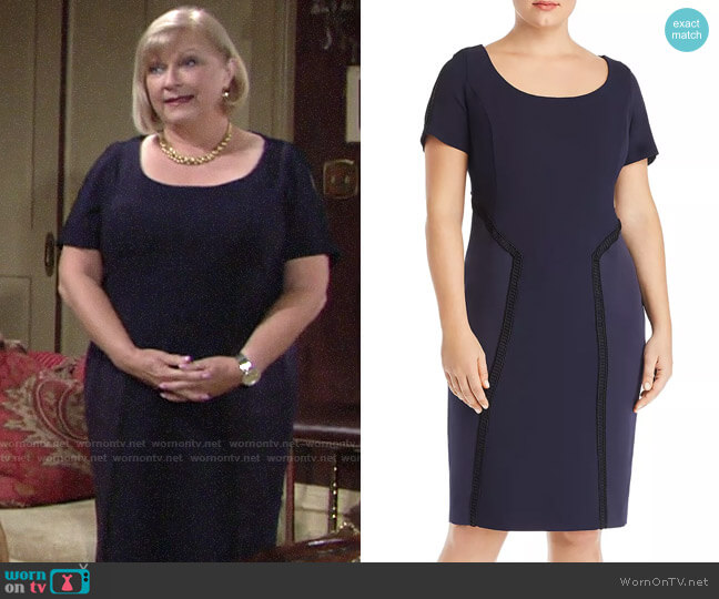 Marina Rinaldi Destino Body-Con Dress worn by Traci Abbott (Beth Maitland) on The Young & the Restless