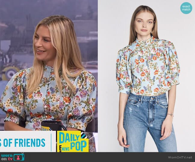 Jules Print Top by Marissa Webb worn by Morgan Stewart  on E! News