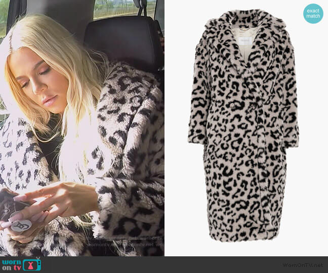 Edy Oversized Leopard Coat by Max Mara worn by Khloe Kardashian  on Keeping Up with the Kardashians