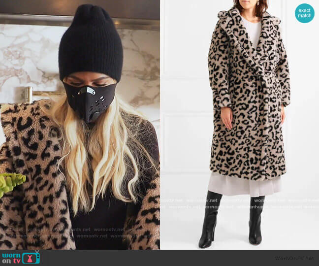 Oversized leopard-print faux fur coat by Max Mara worn by Khloe Kardashian  on Keeping Up with the Kardashians