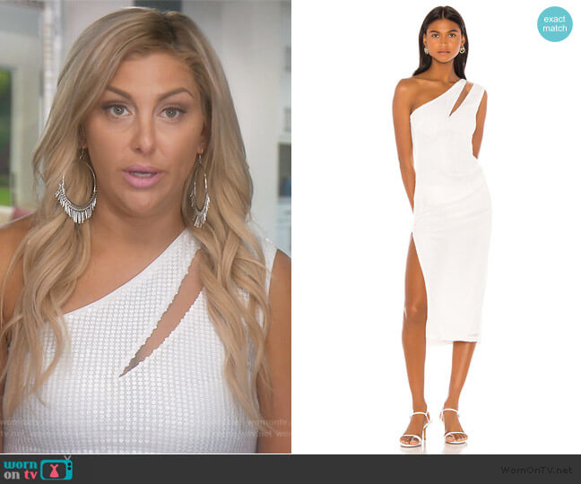 x Revolve Ryley Midi Dress by Michael Costello worn by Gina Kirschenheiter  on The Real Housewives of Orange County