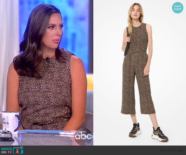 Mini Leopard Jumpsuit by Michael Michael Kors worn by Abby Huntsman  on The View