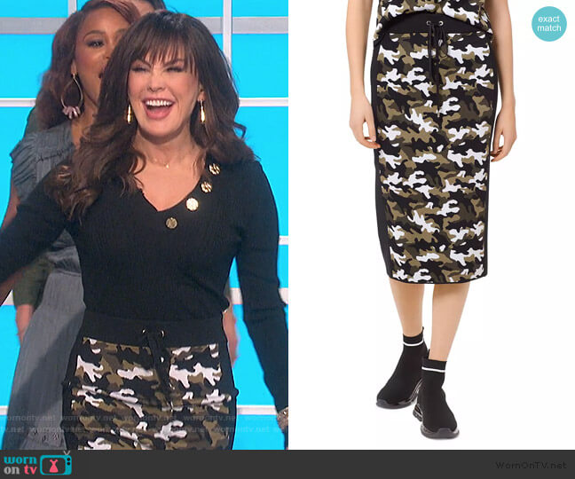 Camo Pencil Skirt by MICHAEL Michael Kors worn by Marie Osmond  on The Talk