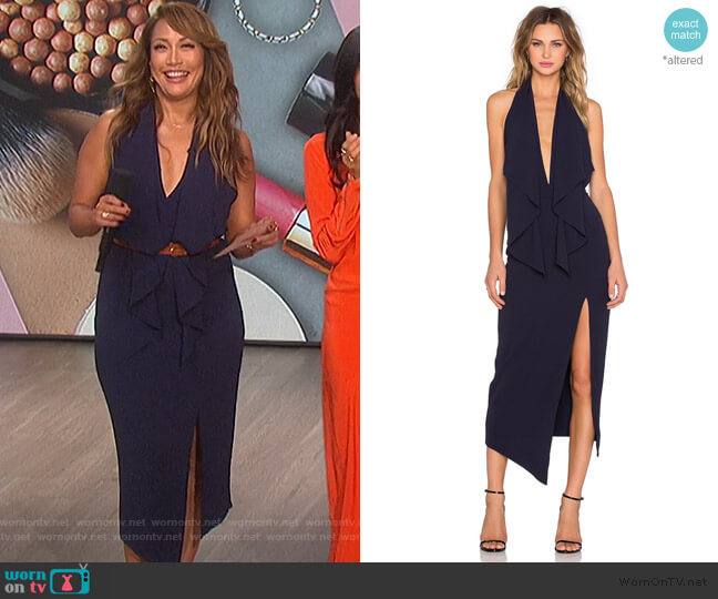 Lorena Dress by Misha Collection worn by Carrie Inaba  on The Talk