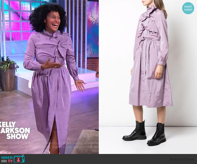 Tie Detail Dress by Molly Goddard worn by Tracee Ellis Ross on The Kelly Clarkson Show