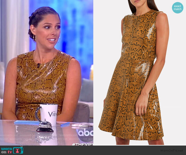 Mercy Snake-Embossed Leather Dress by Notes du Nord worn by Abby Huntsman  on The View
