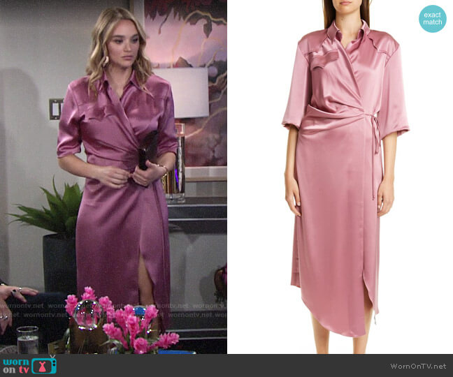 Nanushka Lais Dress worn by Summer Newman (Hunter King) on The Young & the Restless