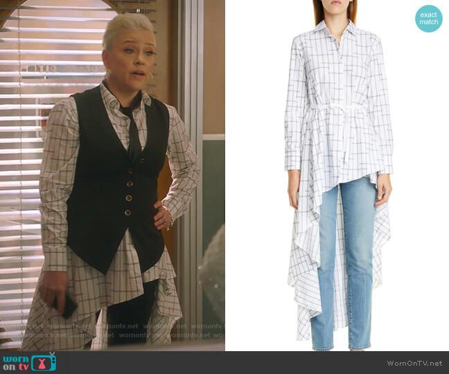 Long Super Shirt by Palmer/Harding worn by Christine Elise  on BH90210