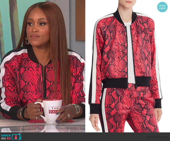 Baby Boa Cropped Track Jacket by Pam & Gela worn by Eve  on The Talk