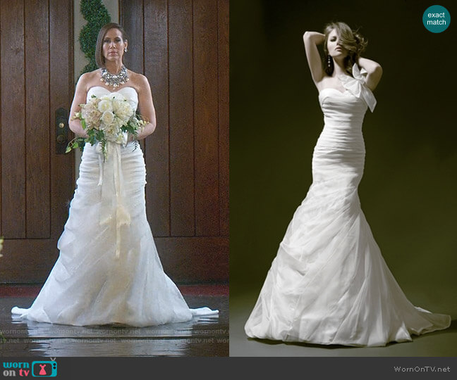 Simple Fit and Flare Wedding Dress by Pnina Tornai worn by Diana Trout (Miriam Shor) on Younger
