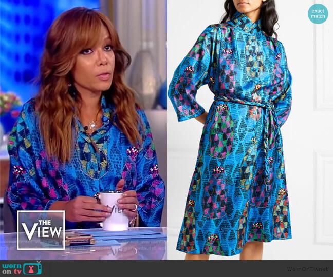 Josepha tie-front Midi Dress by Riannna + Nina worn by Sunny Hostin  on The View