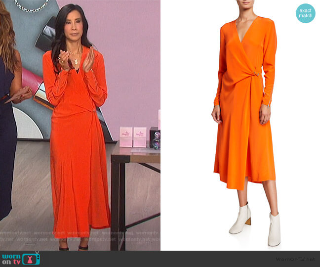 Odette Dress by Rag and Bone worn by Lisa Ling on The Talk