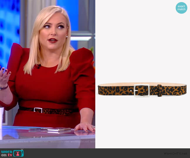 Boyfriend Belt by Rag and Bone worn by Meghan McCain  on The View