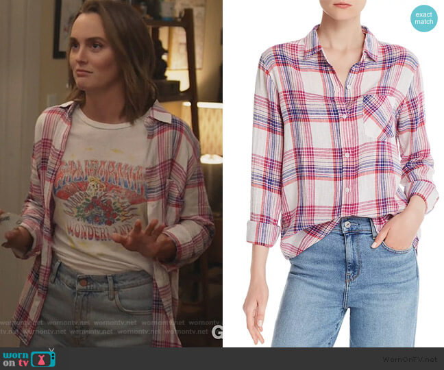 Charli Plaid Shirt by Rails worn by Angie (Leighton Meester) on Single Parents