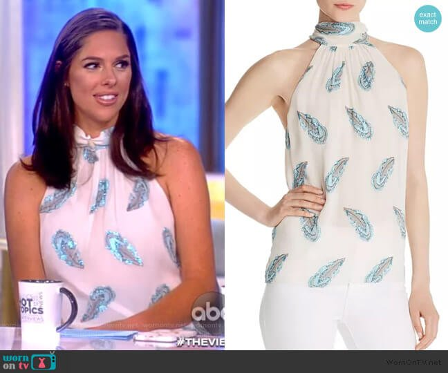 Lori Feather-Print Top by Ramy Brook worn by Abby Huntsman  on The View