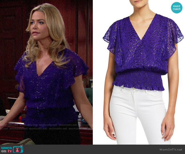 Ramy Brook Lynette Top worn by Shauna Fulton (Denise Richards) on The Bold & the Beautiful
