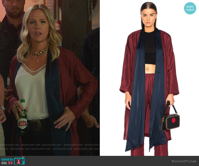 Wrap Trench by Raquel Allegra worn by Jennie Garth  on BH90210