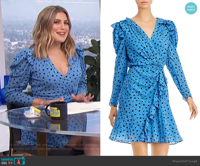 Nova Faux-Wrap Dress by Rebecca Taylor worn by Carissa Loethen Culiner  on E! News
