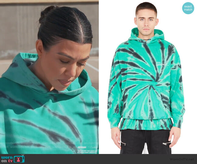 XTC Hoodie in Watermelon Green by Represent worn by Kourtney Kardashian  on Keeping Up with the Kardashians