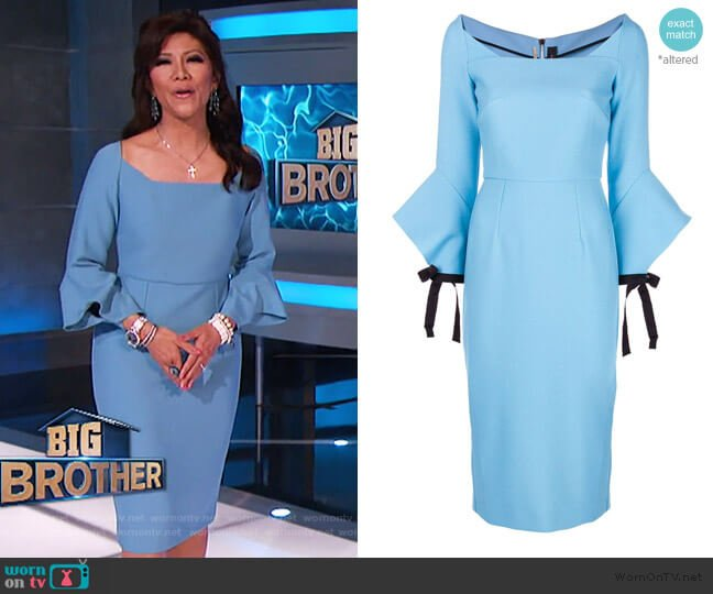 Hitchcock Dress by Roland Mouret worn by Julie Chen  on Big Brother
